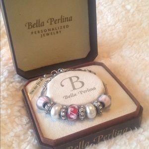 Bella Perlina Silver &a Pink Bracelet